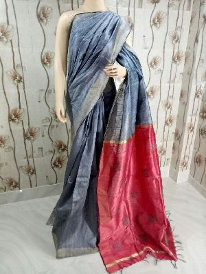 Tusser Dupion Handloom Raw Silk Sarees
