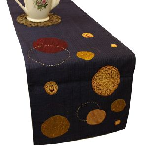 Black Silk Table Runner