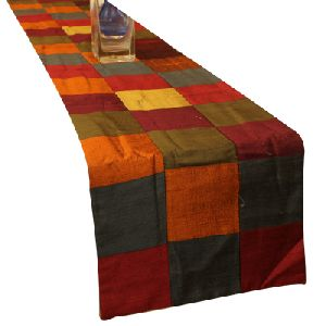 Multi Color Silk Table Runner