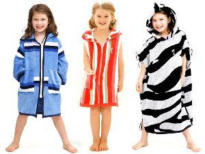 Girls Hooded Beach Towels
