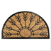 rubber backed coir mats