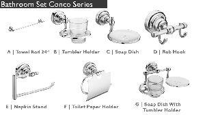 Conco Series Bathroom Fittings
