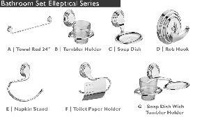 Elleptical Series Bathroom Fittings