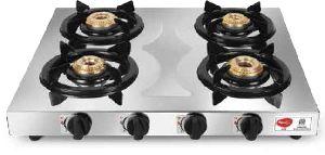 Hob 4 Burner Regular Stainless Steel Gas Stove