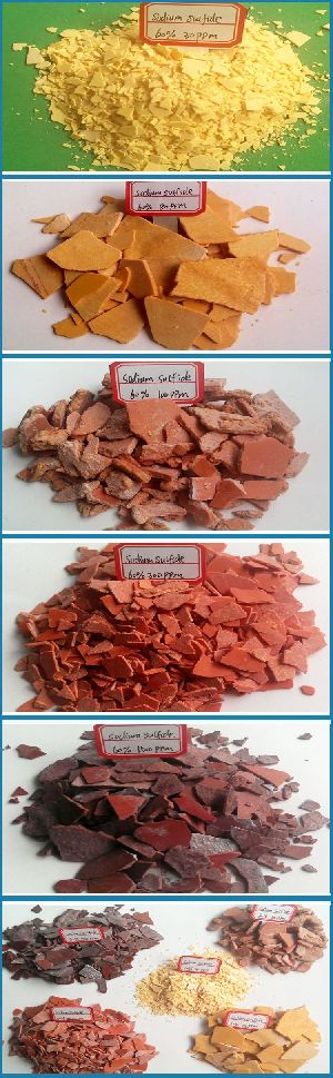 red/yellow flakes sodium sulfide/sulphide NA2S