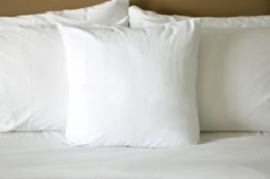 white pillow covers
