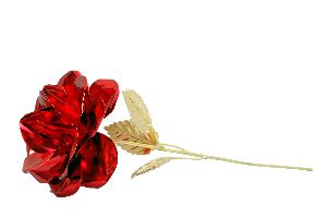 Red Metal Rose Flower