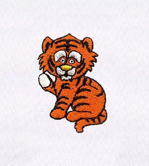 ADORABLE BABY TIGER CUB DIGITAL EMBROIDERY DESIGN