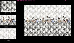 250 X 375mm Glossy Light Dark Series Digital Wall Tiles