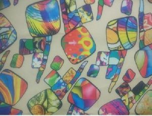 Polyester Georgette Digital Print Fabric