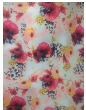 Polyester Georgette Floral Print Fabric