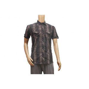 Mens Half Sleeve Striped Shirt