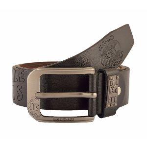 Mens Stylish Dark Brown Leather Belt