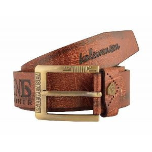 Mens Stylish Light Brown Leather Belt
