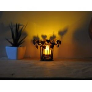 Heart Shadow Votive Metal Tea Light Candle Holder