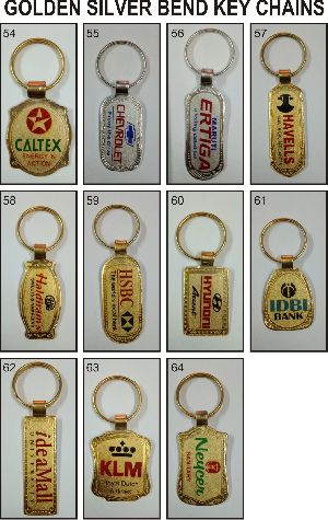 Golden And Silver Bend Keychains