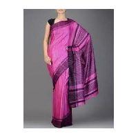 Pink Ghicha Silk Saree