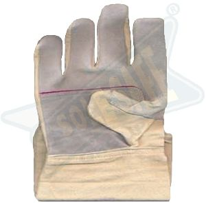 Chrome Canvas Leather Gloves