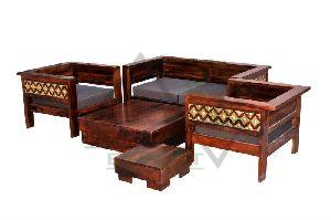 Brass Fitted Sofa Set
