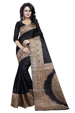 Black Kalamkari Silk Sarees
