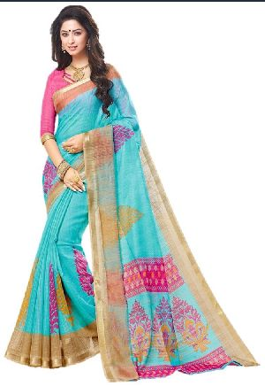 Jari Border Embroidered Sarees