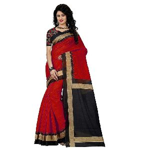 Lucky Red Embroidered Sarees