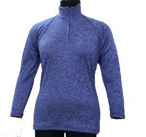 Blue Fleece Hooded Sweatshirt