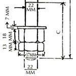11 KV G. I. Pin