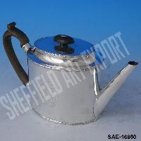 Brass Silver Plated Oval Tea Pot