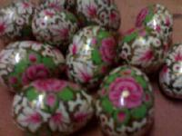 Handicraft Papier Mache Eggs