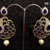 Cut Work Designer Stone Earrings
