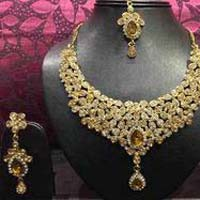 Kundan Polki Designer Necklace Set