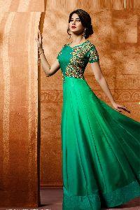 Jennifer Winget Green Floor Length Anarkali Suit