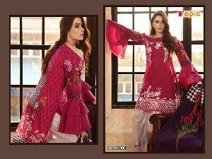 Cambric Cotton Printed Salwar Kameez, Embroidered Salwar Kameez