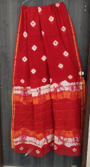Chanderi Batik Printed Sarees