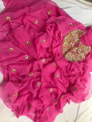 Heavy Gotta Patti Zardoji Work All Over Saree With Heavy-work Blouse