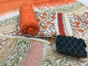 Cotton Bottom Pure Chanderi Silk Suits