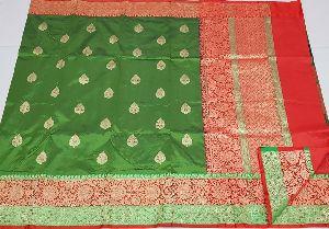 Pure Handloom Banarasi Kadiyal Katan Silk Sarees