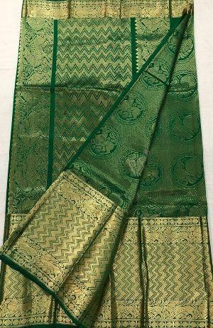 Pure Handloom Designer Kanchi Pattu Sarees