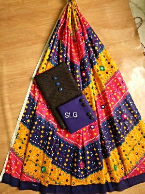 Slg Chikan Suits With Kutch Embroidery Soft Cotton Dupatta
