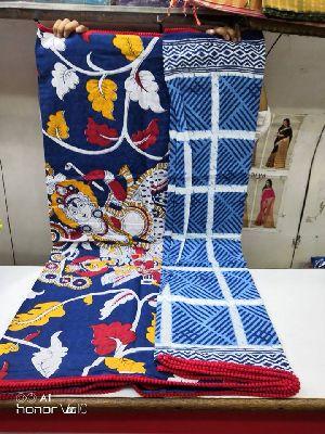 Bagru Block Print Sarees With Pompoms