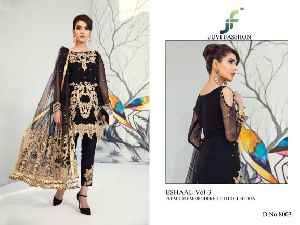 juvi eshaal vol3 faux georgette embroidered suits