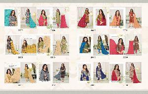 Kapil Glamour Pure Cotton Suits With Chiffon Dupatta