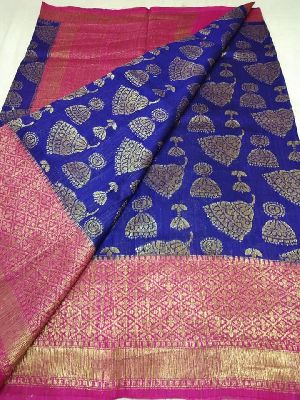 Pure banaras dupion silk sarees with blouse