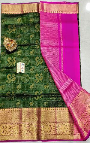 Pure Handloom Gadwal Silk Sarees With Pure Kanjivaram Borders