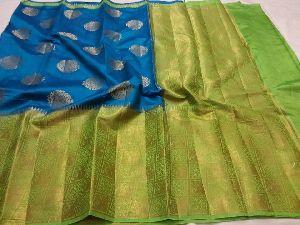 Pure Light Weight Kanchi Korvai Pattu Sarees