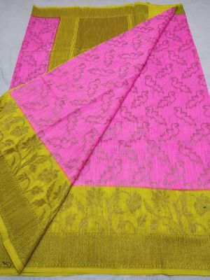 Semi dupion silk sarees with blouse