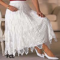 Ladies Crochet Skirt