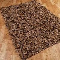 leather shag rugs