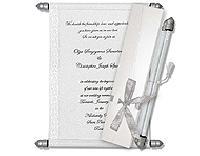 Scroll Wedding Invitation card